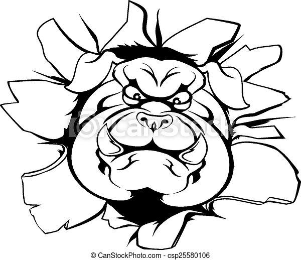 Bulldog mascot breakthrough - csp25580106