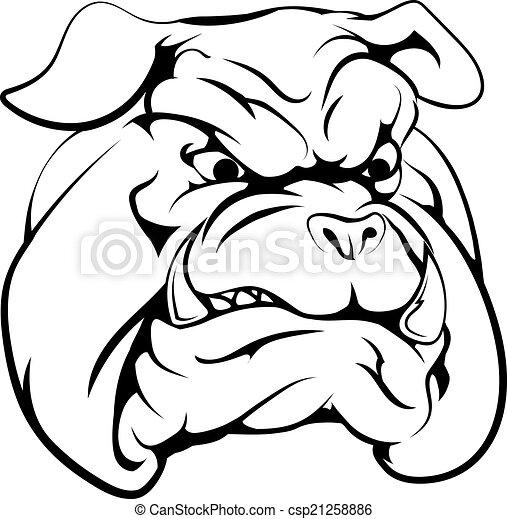 Bulldog mascot character - csp21258886