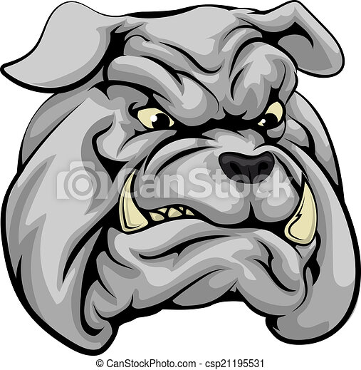 Bulldog mascot character - csp21195531
