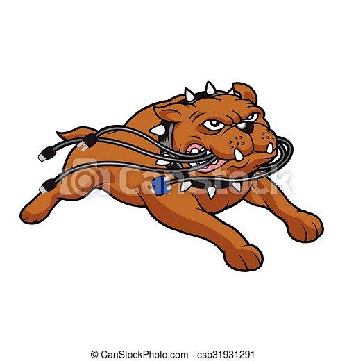 Bulldog mascot  - csp31931291
