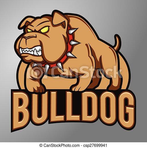 Bulldog Mascot - csp27699941