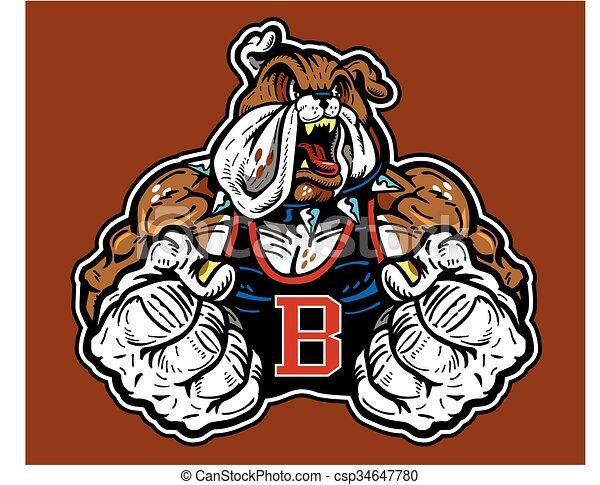 bulldog mascot - csp34647780