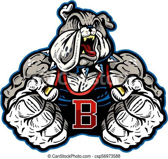 bulldog mascot - csp56973588
