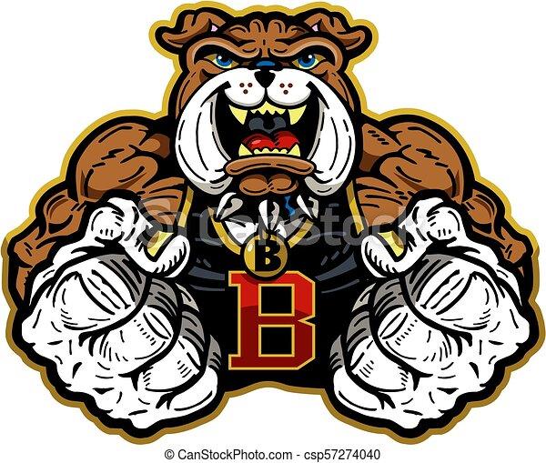 bulldog mascot - csp57274040