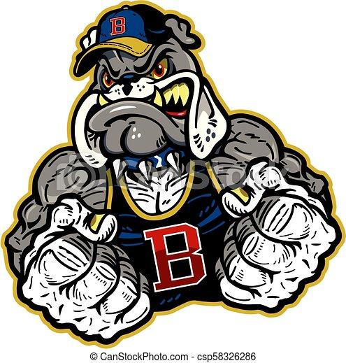 bulldog mascot - csp58326286