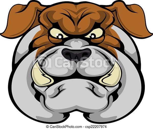 Bulldog mascot face - csp22207974
