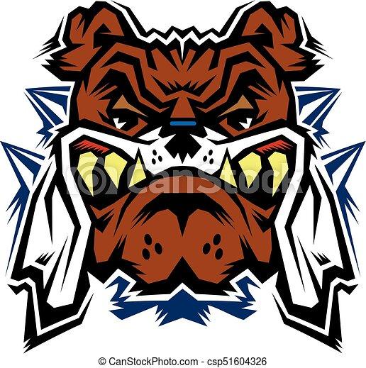 bulldog mascot - csp51604326