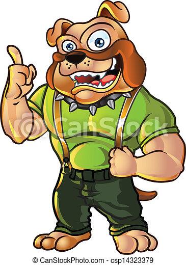 Bulldog Mascot - csp14323379