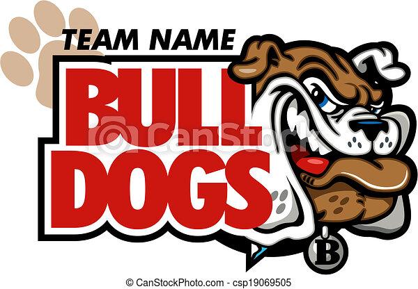 bulldog mascot design with smirking bulldog face vector clipart rh canstockphoto com bulldog mascot clipart free friendly bulldog mascot clipart