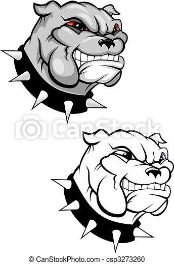 Bulldog mascot - csp3273260