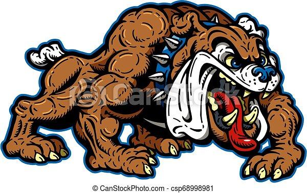 bulldog, mascotte - csp68998981