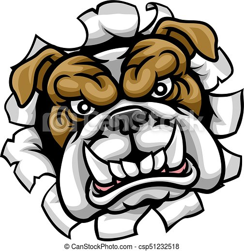 bulldog mean sports mascot a mean bulldog dog angry animal rh canstockphoto com  free mean dog clipart