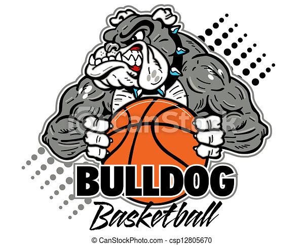 bulldog, pallacanestro - csp12805670