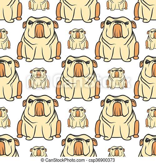 Patrón de bulldog inglés sin costura - csp36900373