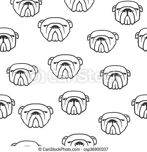 Patrón de bulldog inglés sin costura - csp36900337