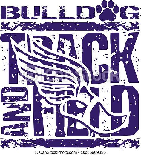 La pista y el campo de los Bulldogs - csp55909335
