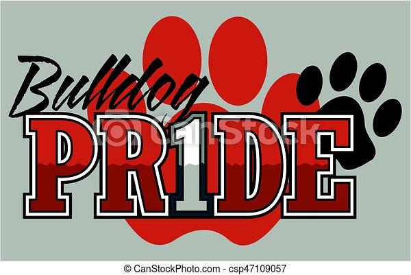 bulldog pride - csp47109057