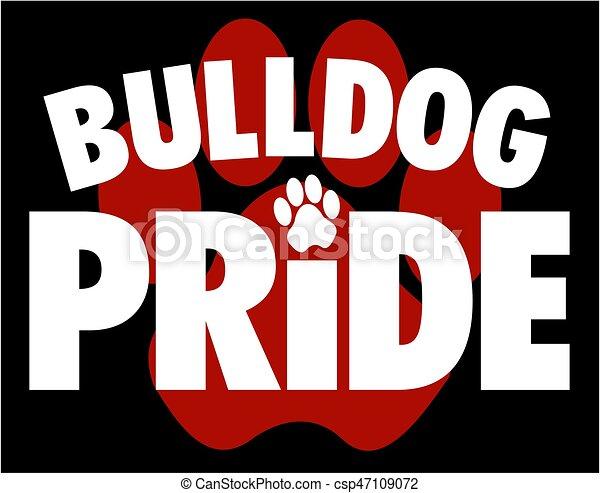 bulldog pride - csp47109072