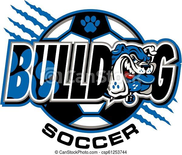 bulldog soccer - csp61253744