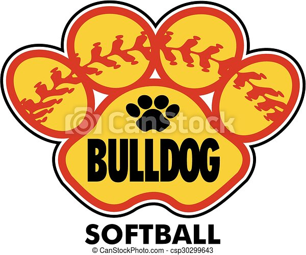 bulldog, softbal - csp30299643