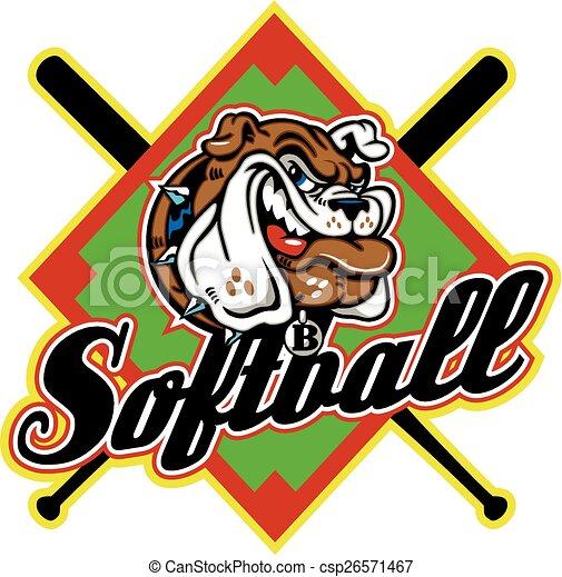 bulldog softball - csp26571467