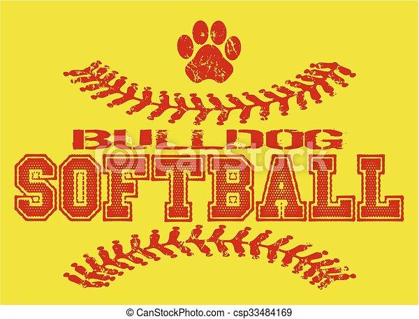 bulldog softball - csp33484169