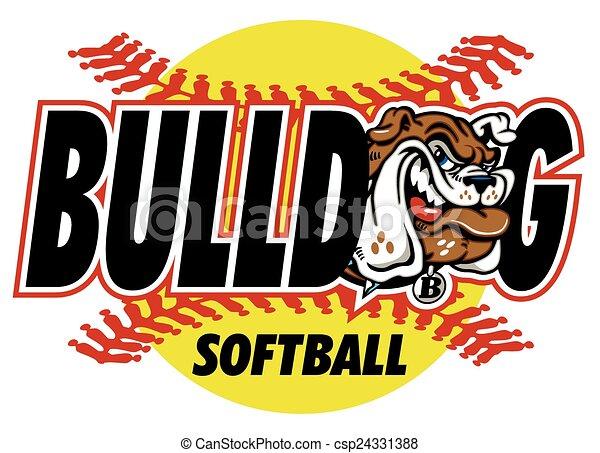 bulldog softball - csp24331388