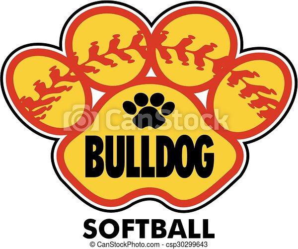 bulldog softball - csp30299643