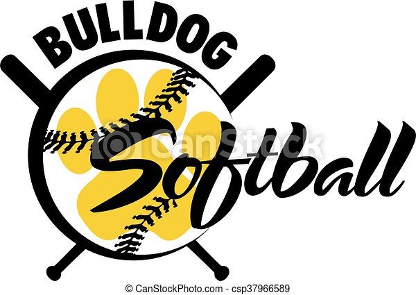 bulldog softball - csp37966589