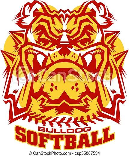 bulldog softball - csp55887534