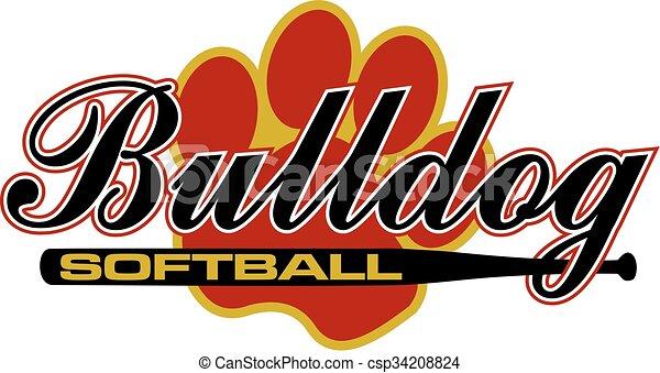 bulldog softball - csp34208824
