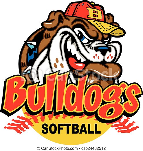 bulldog softball design with mascot vector clip art search rh canstockphoto com  bulldog football mascot clipart