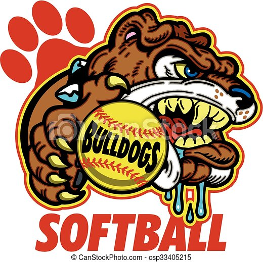 bulldog softball - csp33405215