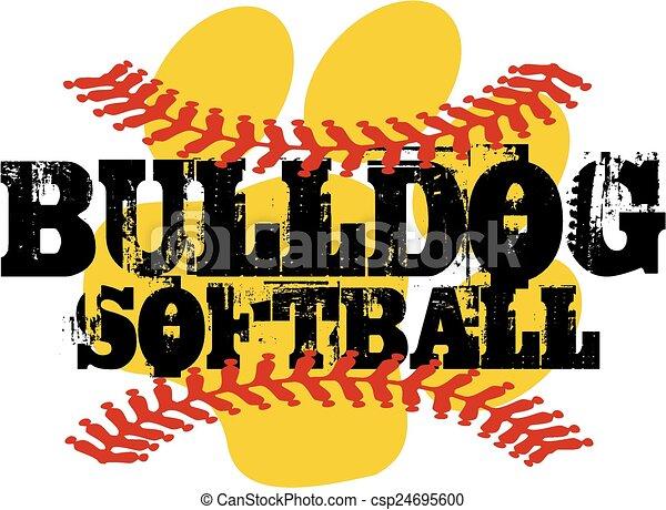 bulldog softball - csp24695600