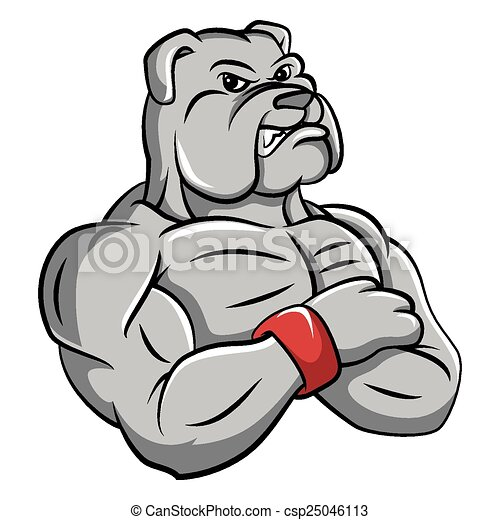 bulldog strong mascot vector clip art search illustration rh canstockphoto com