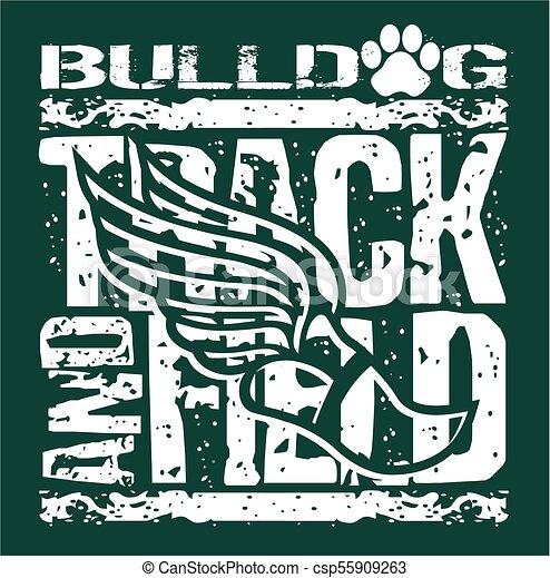 bulldog track and field - csp55909263