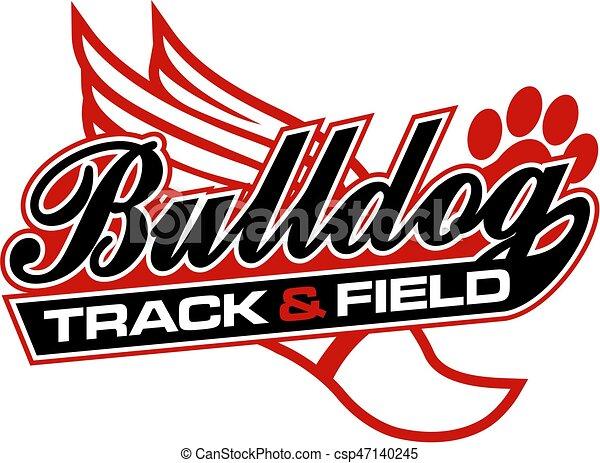 bulldog track and field - csp47140245