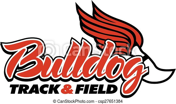 bulldog track field design with winged foot vector search clip rh canstockphoto com sg track and field clipart pictures track and field shoe clipart