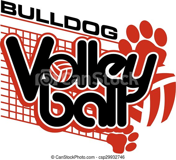 Bulldog Volleyball - csp29932746