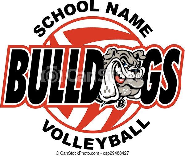 bulldog volleyball - csp29488427