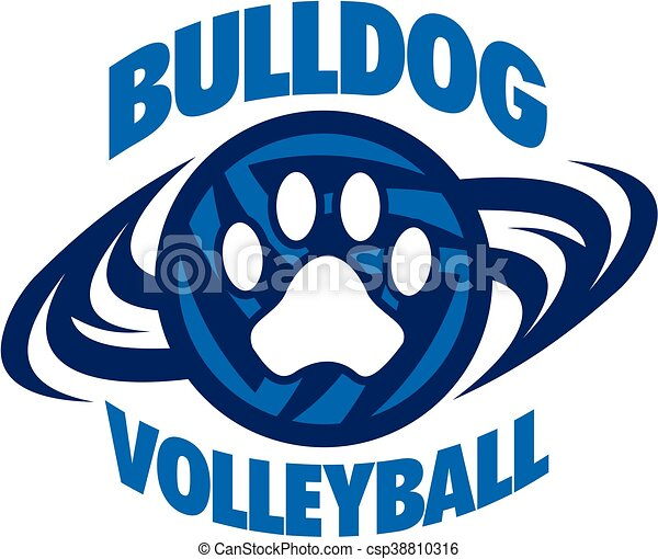 bulldog volleyball - csp38810316