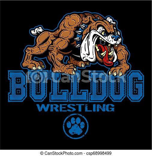 bulldog, wrestling - csp68998499
