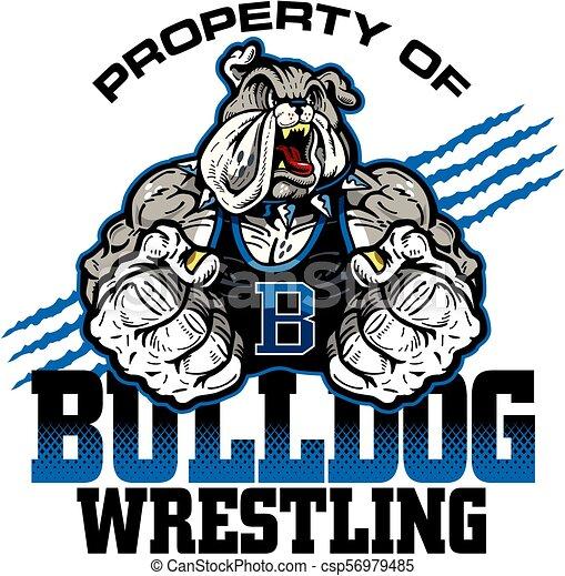 bulldog wrestling - csp56979485