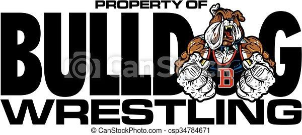 bulldog wrestling - csp34784671