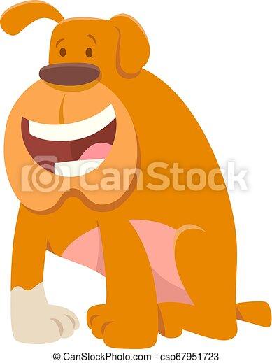bulldogge, lustiges, zeichen, hund, karikatur - csp67951723
