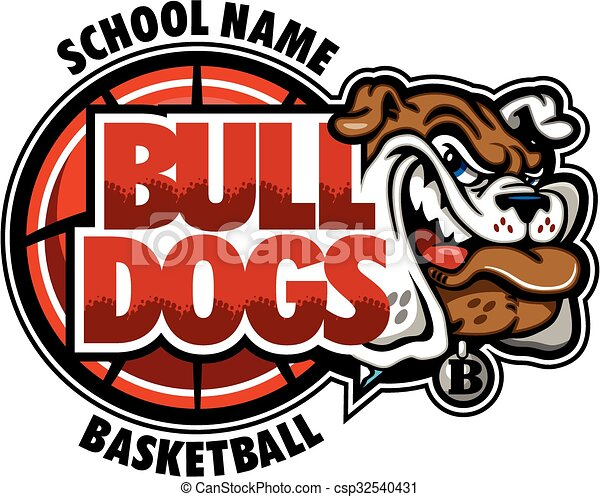 bulldogs basketball team design with mascot head for school rh canstockphoto ca
