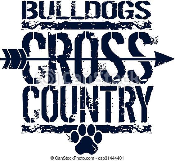bulldogs cross country - csp31444401