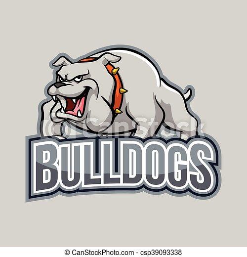 bulldogs illustration design - csp39093338