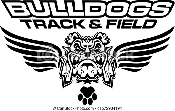 bulldogs track and field - csp72984194