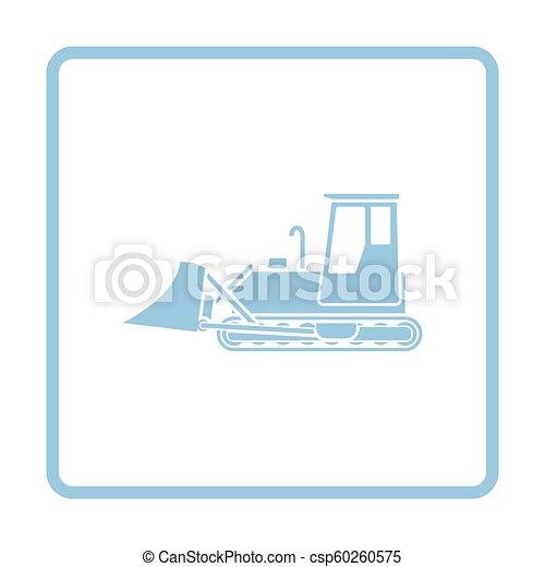 bulldozer, construction, icône - csp60260575
